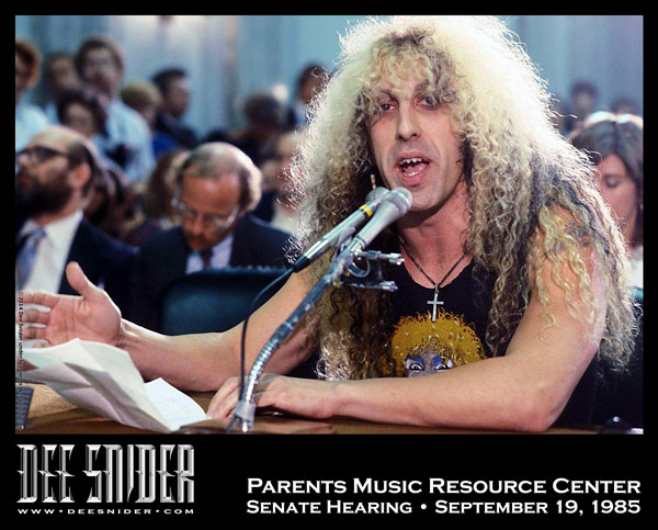 Dee Snider PMRC Hearings 1985
